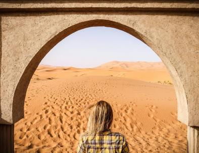 Merzouga Sahara desert views