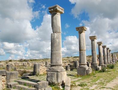 The Roman ruins next to Meknes