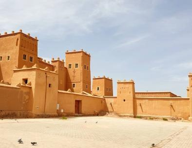 The Kasbah of taourirt in Ouarzazate, a site we will pass by with our 4 days trip from Fes to Marrakech across the Sahara desert of Merzouga