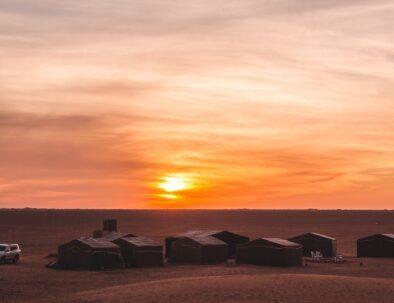 A camp in the desert