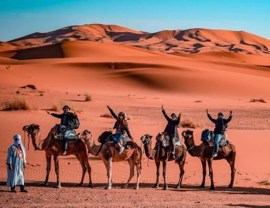 Camel ride at Erg Chebbi with the trip of 2 days from Fes and end in Marrakech